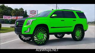 "AceWhips.NET- First in the World 2017 Cadillac Escalade on 34""s Asantis  by WTW Customs"