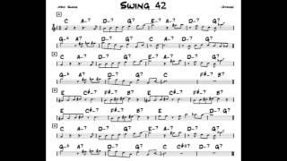 Swing 42 - Play along - Backing track (C key score violin/guitar/piano)