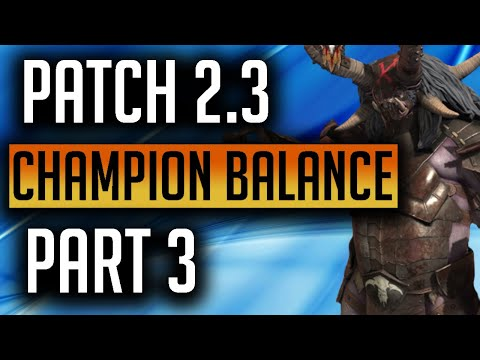 RAID: Shadow Legends | 2.3 September My Champion Balance Suggestions Pt 3