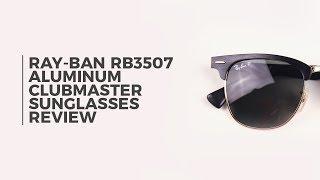 5a5c88c0c7 Ray-Ban RB3507 Clubmaster Aluminium Polarized 136 N5 Sunglasses ...