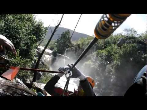 EPIC waterfall zipline adventure