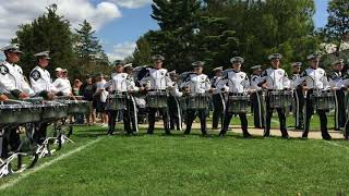 Band Day Beat - MSU drumline warmup at Adams field before the WMU game - 9/9/2017