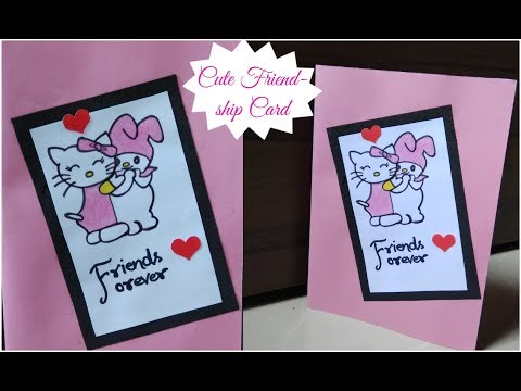 Download Thumbnail For Diy Cute Friendship Day Card Simple And Easy