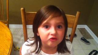 "My little sister singing ""Picture"" by Kid Rock and Sheryl Crow"