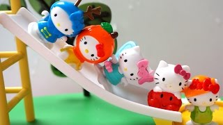 5 Hello Kitty Jumping on the Bed Slide - Popular Nursery Rhymes collection and more