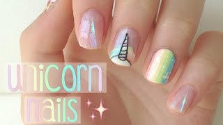 Rainbow Unicorn Nails! | DIYDazzleNails