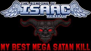 The Binding Of Isaac Rebirth - My Best Mega Satan Kill (MASSIVE TEARS)