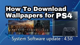 PS4 - how to download wallpapers from internet browser | custom wallpaper