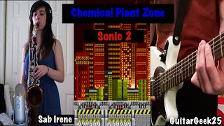 Chemical Plant Zone: Sonic 2 [Tenor Sax Cover] | Sab Irene ft. GuitarGeek25