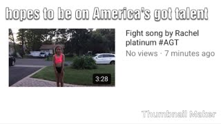 Fight song by Rachel platinum #AGT