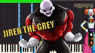 JIREN THE GREY - MAIN THEME (Piano Tutorial) vs Goku Ultra Instinct ,  Jirens Power Unleashed REMIX