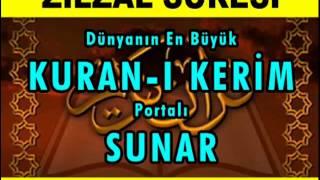 ZİLZAL Suresi - Kurani Kerim oku dinle video izle - Kuran.gen.tr