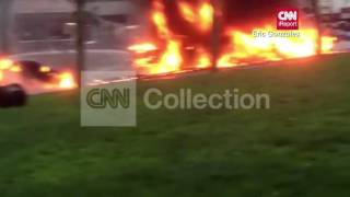 WA:NEWS HELICOPTER CRASH:VEHICLES ON FIRE(MORE)
