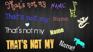 The Ting Tings - That's Not My Name Lyrics