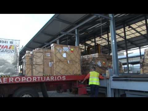 Transportation of oil paintings from the Guayasamín Foundation to Spain.