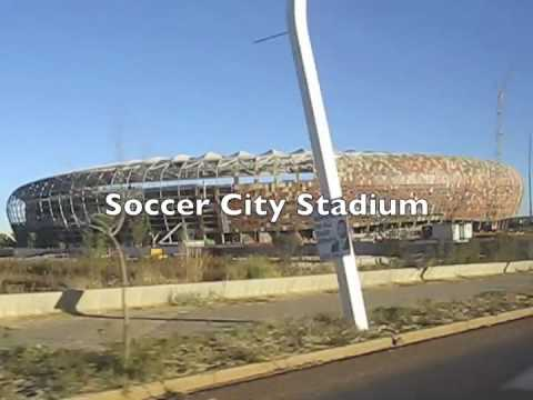 From Sandton (Johannesburg) to Soccer City Stadium