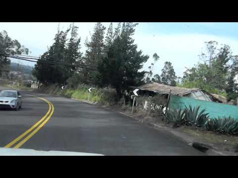 Ecuador, road back from Otavalo to Quito.