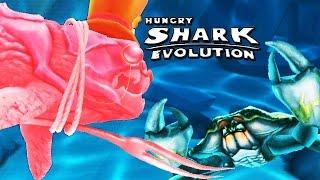 Hungry Shark Evolution - Big Daddy vs Giant Black Crab