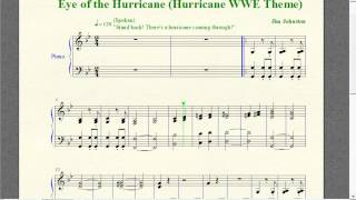 "Wrestling Piano Theme Sheet Music - ""Eye of the Hurricane"" (Hurricane WWE Theme)"