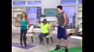 Marie Osmond w Adam Gregory on QVC 3-15-15. Body Gym