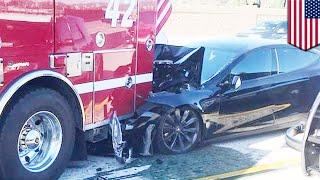 Kecelakaan mobil autopilot Tesla dengan truk pemadam kebakaran - TomoNews
