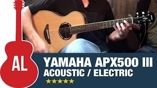 Yamaha APX500 III (Natural Finish) Acoustic/Electric Guitar