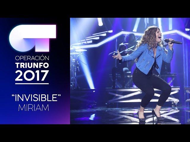 Vídeo de Miriam Rodríguez cantando Invisible