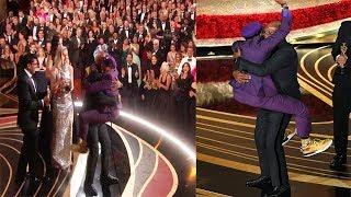 "Samuel L Jackson Informs Spike Lee ""Knicks Won"" at Oscar 2019"