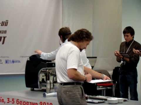 6-th Ukrainian Barista Championship 2010 // Aleksandr Galitsyn (Kofein) _ semifinal