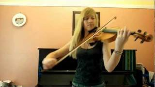 Lara plays the 'Halo' theme on violin