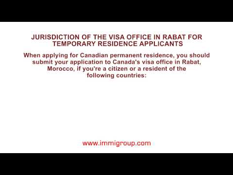 Jurisdiction of the visa office in Rabat for temporary residence applicants