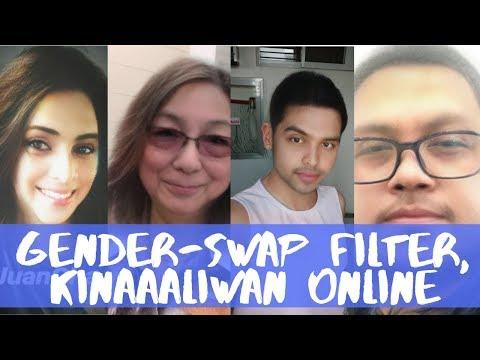 Gender-swap at baby-face filter ng isang multi-media messaging app