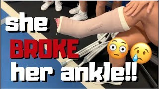HER ANKLE IS BROKEN!! (practice vlog)