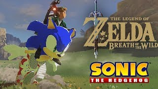 Zelda: Breath of the Wild - Sonic gives Link a ride