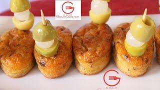Mini cakes salés aux olives et thon- ميني كيك مالح بالزيتون و الطون لذيذ جدا