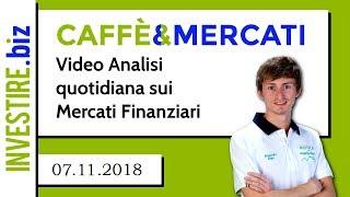 Sono entrato Short su EUR/USD 07.11.2018
