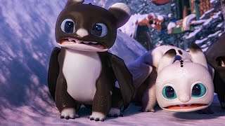Surprise Visitors in New Berk Scene - HOW TO TRAIN YOUR DRAGON: HOMECOMING (2019) Movie Clip