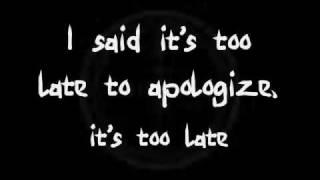 Timbaland - Apologize ft. OneRepublic  (Lyrics)