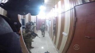 New helmet cam video of raid on ISIS