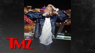 Nas completely drunk during his show in Las Vega
