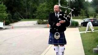 Pink Floyd's On The Turning Away on the bagpipes
