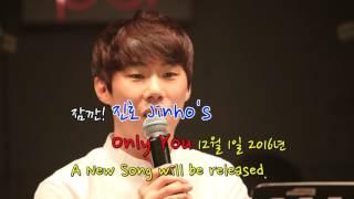 진호Jinho 신곡: Only You 곧!!공개 온리유_16/12/1/ Thu (히든싱어2휘성) 써커스백 _(BM:투빅 Unforgettable)