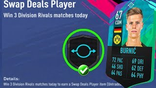 "FIFA 19 - HOW TO FIND THE ""swap deals player"" fut swap item OBJECTIVE IN 3 GAME"