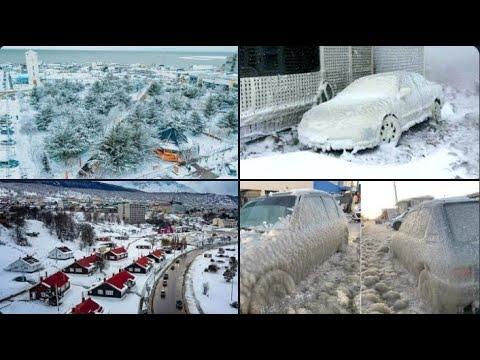 Onda de frio polar ao extremo congela carros, ruas e até o Oceano Atlântico