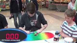 3x3 One Handed: 14.86 Official Average, 12.22 Single