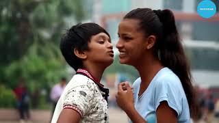Indian kissing prank  Small boy width=