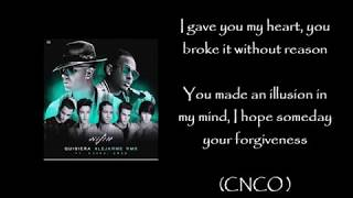 Wisin - Quisiera Alejarme remix f. Ozuna, CNCO Letra/english lyrics