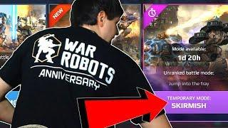 War Robots Anniversary: SKIRMISH New Crazy Gamemode Gameplay - WR width=