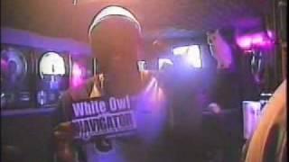 white owl and navigator(perverted rym throwwa) in white owl's studio nav bug out freestyleIN 2001