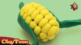 Corn - Polymer clay tutorial   كوز ذرة - تشكيل صلصال